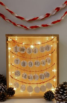 homemade Christmas advent calendar