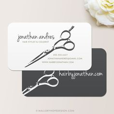 Hair Stylist Shears or Barber Business Card / Calling Card / Mommy Card - CUSTOMIZE Colors and Content on Etsy, $38.50