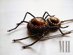 Pająk - broszka | MH Biżuteria - cuda ręcznie wykonane