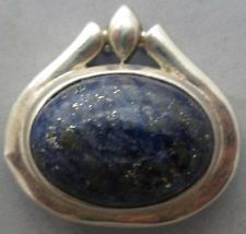 STERLING SILVER LAPIS PENDANT