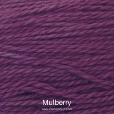 A ColourSpun Pure Cotton yarn and embroidery thread colour swatch. This colour is called Mulberry Colour Swatches, Super Chunky Yarn, Fabric Yarn, Embroidery Thread, Fabric Design, Weaving, Knitting, Cotton, Closure Weave