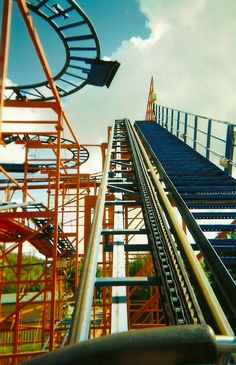 """rollercoaster I found online. it looks EXACTLY like the """"ricochet"""" ride I rode at kings dominion"""