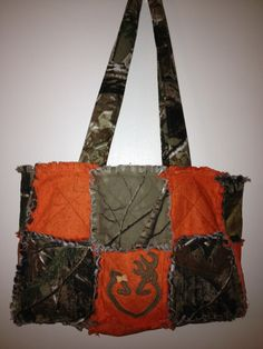 Bright Orange & Real Tree Camo with Boy & Girl Browning