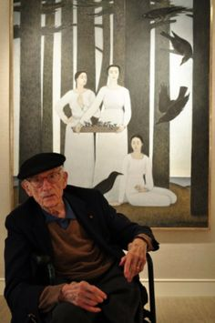 Will Barnet celebrated his 100th birthday with a show of previously unseen works at Harmon-Meek Gallery in 2010.