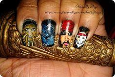 pirates of the caribbean...movie nails - Fashion by Priya Bhattacharrya at touchtalent