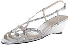 Caparros Women's Lisette Dress Sandal,Silver,8 M US