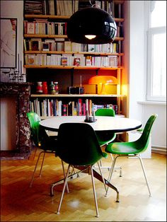 This dining room is so quirky! Especially how most the furnishings are plastic. :)