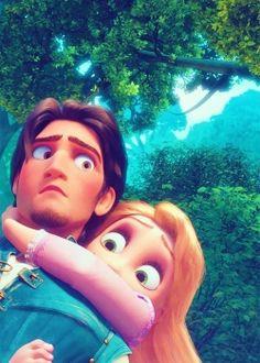 """Tangled"" - Flynn Rider and Rapunzel. Disney Rapunzel, Disney Pixar, Rapunzel Flynn, Walt Disney, Disney E Dreamworks, Rapunzel And Eugene, Disney Couples, Disney Animation, Disney Art"