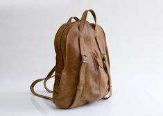 Original price $330 ► B'Day Sale 10% Discount ► Use copoun BIRTHDAY  Everyday Leather Backpack - Brown Leather Tote Bag - Soft leather Bag - Fashion Backpack Purse for women - Laptop Bag - Office Bag
