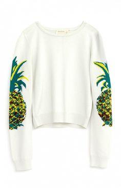 Nicole Miller Artelier Pineapple Sweater