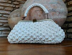 Bolso de trapillo WHITE by Crochet o ganchillo