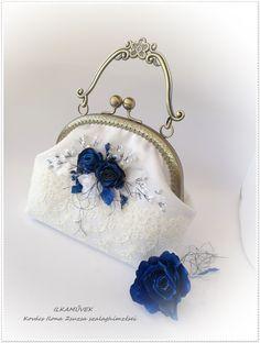 Diy Bags Purses, Purses And Handbags, Vintage Purses, Vintage Bags, Diy Fashion Hacks, Painted Bags, Fabric Wallet, Frame Purse, Handmade Handbags