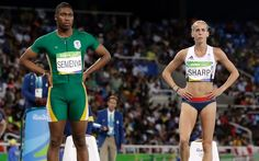 Lynsey Sharp criticises 'obvious' hypoadrogenous women having being defeated in the 800m by intersex athlete Caster Semenya