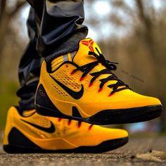 "Nike Kobe 9 EM ""University Gold"" - The 25 Best Sneaker Photos on Instagram This Week | Complex CA Shoes Calçados, Calça Masculina, Tênis Nike"