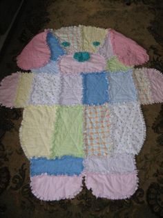 Baby Rag Quilts, Baby Patchwork Quilt, Dog Quilts, Animal Quilts, Quilting Projects, Sewing Projects, Quilting Ideas, Rag Quilt Patterns, Baby Crafts
