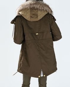 ZARA - WOMAN - PARKA WITH DETACHABLE QUILTED LINING