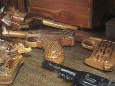 handmade wooden guns by Clare Graham, via Flickr