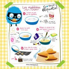 Madeleines Rezept - Make Up Muffin Recipes, Cupcake Recipes, Dessert Recipes, Madeleine Recipe, Food Tags, Köstliche Desserts, Cooking With Kids, Tupperware, Kids Meals