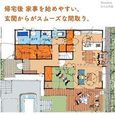 Japan House Design, Floor Plans, How To Plan, Interior Design, Room, Instagram, Houses, Decor, Arquitetura