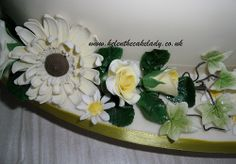 Lemon Roses & Cream Gerbras - By Helen The Cake Lady