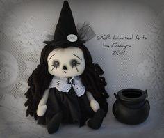 Raggedy RAVEN Annie Witch by OCRLimitedArts on Etsy