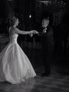 Dance with my Dad #wedding @Paloma Blanca dress
