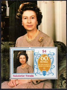 Stamps Tuvalu Nukulaelae 1986 Queen Elizabeth 60th Birthday Miniature Sheet Fine Mint For Sale Take a Look!