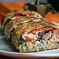 Pastilla au saumon et épinards (façonnage en bûche) - Passion culinaire by Minouchka