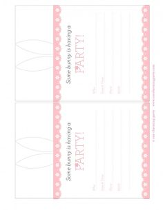 Cute Easter Party Invites Printables