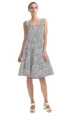 Marni Sleeveless Lattice Print Dress