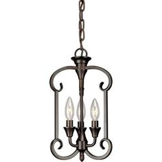 Filament Design William Burton 3-Light Antique Bronze Pendant-CLI-FRT7000-03-32 - The Home Depot