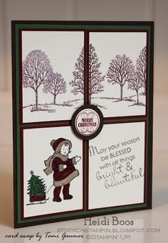 Stuck on Stampin': downline swap cards - 2012 holiday catalog