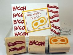 Bacon and Eggs - carve your own stamps! Undefined kit from Stampin' Up!