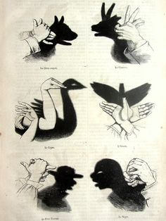 Vintage french 1863 chinese shadow puppetry by TheLyraNebula, $22.00