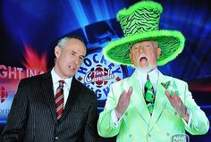 Don Cherry - Iconic and sometimes controversial Cdn. hockey commentator (right). PTB are trying to phase him out. It's only making him more outrageous. Ornette Coleman, Don Cherry, Hockey Boards, Hockey Season, Steelers Football, National Hockey League, I Got Married, Ice Hockey, Nhl