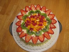 Gim's Delish Delights: Chinese Style Sponge Cake with Fruits