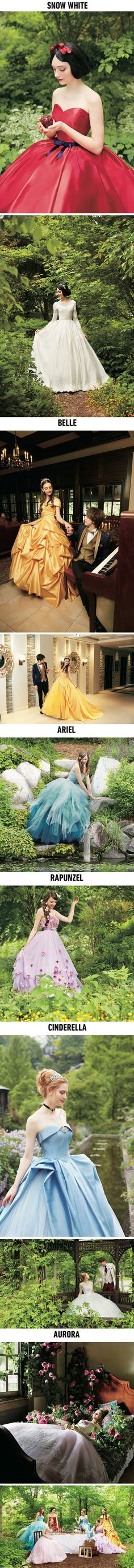 Disney Princess-Inspired Bridal Dresses Will Give You A Fairy-Tale-Like Wedding