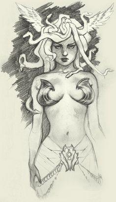 Medusa Sketch by Simon Eckert / Scebiqu