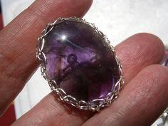 Ring,Amethyst,Naturschmuck,wirework von kunstpause auf DaWanda.com