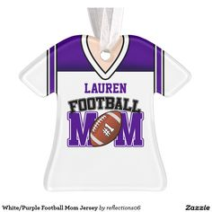 White/Purple Football Mom Jersey