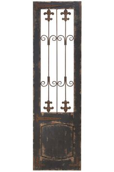 Adrian Gate Wall Art - HomeDecorators.com- With its oversized design, the Adrian Gate Wall Art will help you fill an empty wall. A great value for a piece of this magnitude.     •Wood construction with an antique black finish.   •Looks like an antique that's been in the family for years. It's almost 6 feet tall.