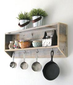Reclaimed Tea Shelf | 5 Colors Available!!