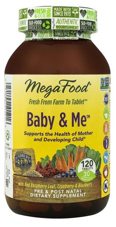 MegaFood Baby and Me™ Pre & Post Natal Whole Food Multivitamin & Mineral