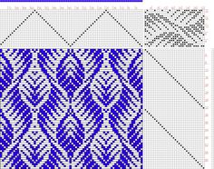 Hand Weaving Draft: Threading Draft from Divisional Profile, Tieup: Classical Collection 6, Draft #8072, Threading: Weber Kunst und Bild Buc...