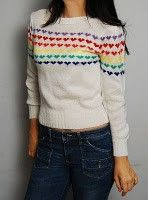 I had this sweater but as a child not adult lol and I love it because I love rainbows because of my papa and for God's PROMISE