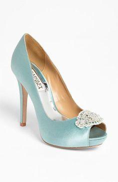 Something Blue wedding heels? Badgley Mischka Goodie Pump available at