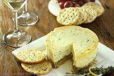 Savory Lemon-Herb Cheesecake
