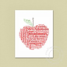 Teacher Gift  Wall Art by printedhappiness on Etsy, $15.00