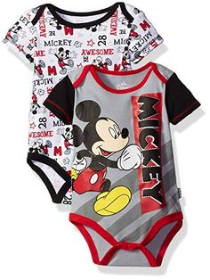 672bacd7d Disney Baby Boys' Mickey Mouse 2-Pack Bodysuits Baby Disney, Little Man,