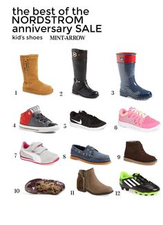 the best kid's shoes of the nordstrom anniversary sale! super good deals for back to school shoes PLUS 4 people will win $50 nordstrom gift cards!! enter here: http://www.mintarrow.com/2014/07/the-best-kids-shoes-of-the-nordstrom-anniversary-sale.html